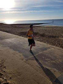Chris O'Brien on promenade in BMF Half Marathon