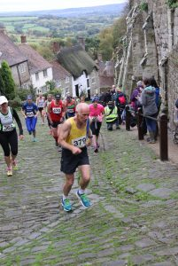Ian Graham makes his way up Gold Hill