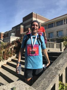 Mark Hillier looking relieved after BMF Marathon