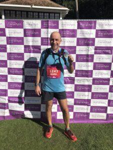 Mark Hillier after finishing BMF Marathon
