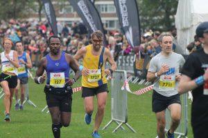 Pawel Surowiec nears the end of the Robin Hood Half Marathon