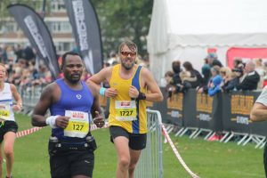 Pawel Surowiec in the Robin Hood Half Marathon