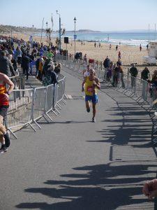 Rich Brawn goes through Boscombe in BMF Marathon