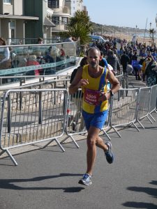 Rich Brawn at Boscombe in BMF Marathon