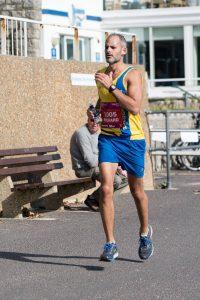 Rich Brawn looking upright in BMF Marathon