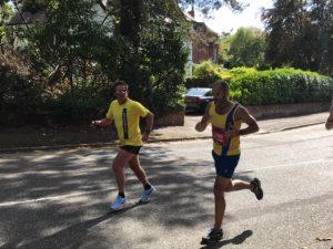 Rich Brawn with Rich Nelson in BMF Marathon