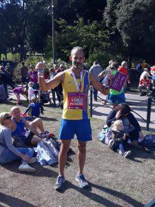 Rich Brawn after finishing BMF Marathon