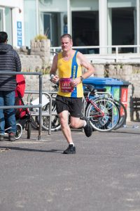 Richard Cannings giving it his all in BMF Marathon