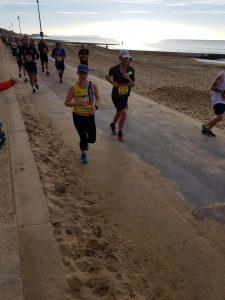 Sam Laws on promenade in BMF Half Marathon