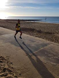 Stu Fox on promenade in BMF Half Marathon
