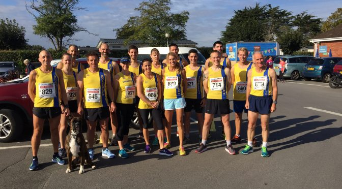 Bournemouth AC team at the Hoburne 5