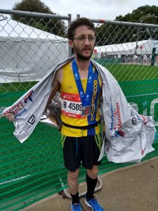 Tom Paskins after Chicago Marathon