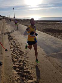 Trev Elkins on promenade in BMF Half Marathon