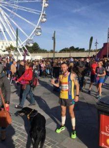 Trev Elkins after the BMF Half Marathon