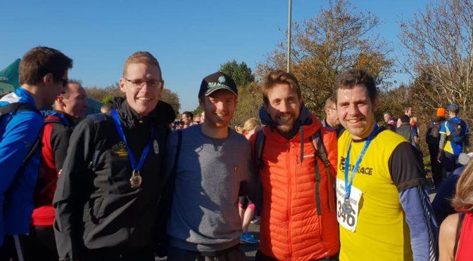 Billy McGreevy and Pete Thompson after Gosport Half Marathon