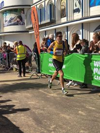 Chris O'Brien in action in the Great South Run