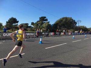 Dave Long in action at the Great South Run