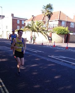 Dave Long coasting in the Leeds Abbey Dash 10k