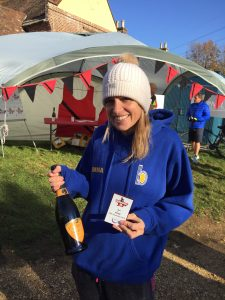 Emma Caplan was 1st FV40 at the Wimborne 10