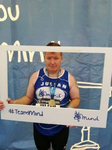 Julian Oxborough ran the Great South Run for the MInd charity