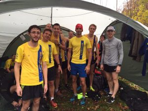 Men's team at the Hampshire League Cross Country race in Aldershot