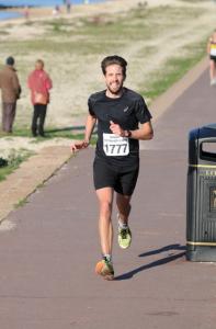 Pete Thompson in the Gosport Half Marathon