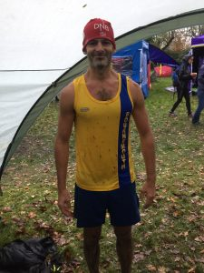 Rich Brawn after the Hampshire League Cross Country race at Aldershot