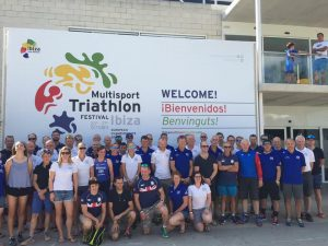 Ross Smith with Great Britain squad for Multisport Triathlon European Championships