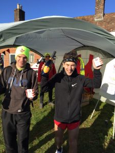 Sharkey and Tag celebrate their success at the Wimborne 10