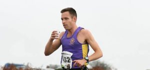 Stu Nicholas refuelling during the Cornish Marathon