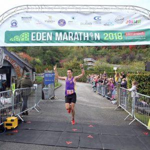 Stu Nicholas winning the Eden Marathon