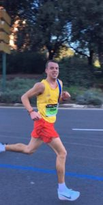 Craig Palmer in the Valencia Marathon
