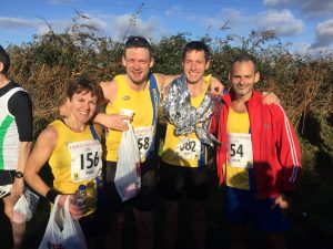 Kirsty, Paul, Stu and Rich at the Christmas 10k