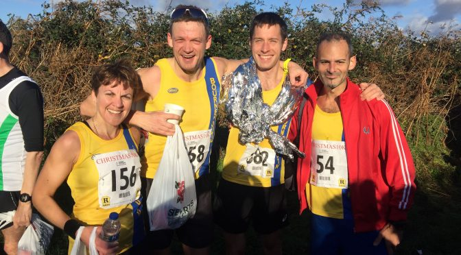 Kirsty, Paul, Stu and Rich after the Christmas 10k