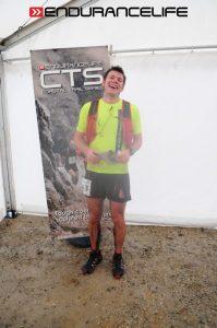 Ollie Stoten laughs it off after the CTS Dorset Half Marathon