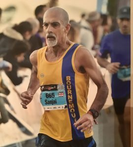 Sanjai Sharma in the Valencia Marathon