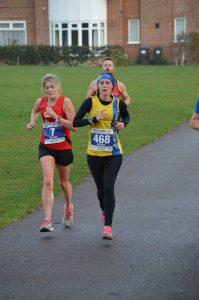 Tamzin Petersen in the Boscombe 10k