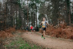 Chris Phelan-Heath leading the way in the Maverick Inov-8 Original New Forest