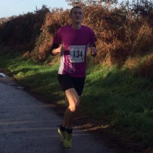 Mitch Griffiths ran well in the Dark Moors 10 MIle race