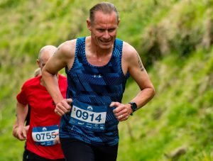 Simon Hearn makes his way up the hill in the Swanage 10k