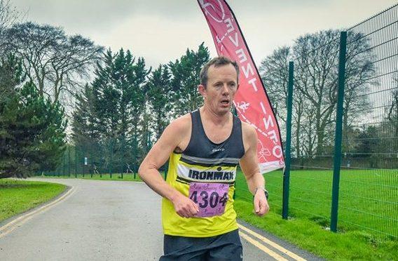 Stu Glenister competing in the Bath Skyline 10k