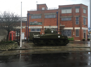 An army tank outside the D-Day Centre