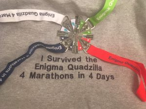 Enigma Quadzilla hoody and medal