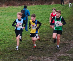 Louie Todd in the South of England AA Cross Country Championships