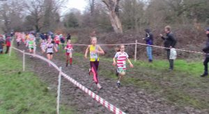 Martha Preece in the Southern Cross Country Championships