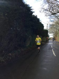 Matt Du Cros makes his way down the road in the Lytchett 10