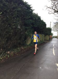 Mitch Griffiths makes his way down the road in the Lytchett 10