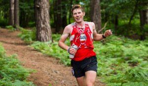 Ollie Stoten running well in the Portland Coastal Marathon