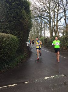 Steve Parson heads round the corner in the Lytchett 10