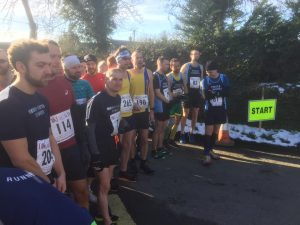 Toby, Steve and Ant at the start of the Blackmore Vale Half Marathon
